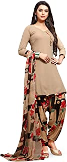 EthnicJunction Women's Crepe Printed Unstiched Dress Material