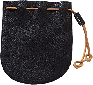 Genuine Leather Drawstring Coin Purse