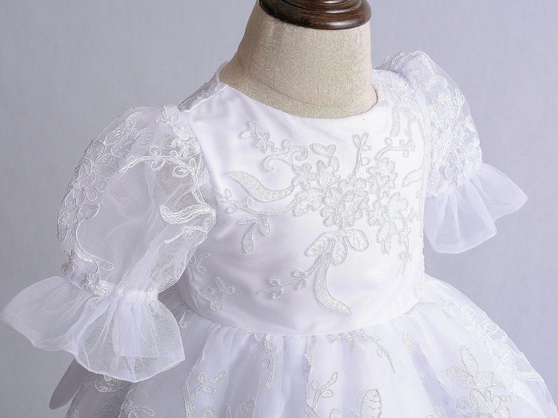 Cinda Baby Spitze Taufkleid Taufe Kleid und M/ütze