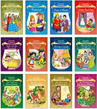 Forever Classics (Set of 12 Fairy Tales with Colourful Pictures) - Story Books for Kids  - Rapunzel, The Wise Goat and the Wolf, Jack and the ... Hansel and Gretel, Beauty and the Beast