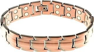 Copper Bracelet for Men: Copper Magnetic Therapy Bracelet, Unisex Heavy Copper Magnetic Bracelet Clasp 99.9% Pure Copper 30 Powerful Magnets Arthritis 5000 Gauss