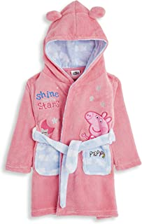 Peppa Pig Dressing Gown for Kids Pink, Hooded Super Soft