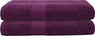 """Bumble Luxury Thick Bath Towels / 30"""" x 60"""" Premium Bath Sheet/Ultra Soft, Highly Absorbent 800 GSM Heavy Weight Combed Cotton (Violet, 2 Pack)"""