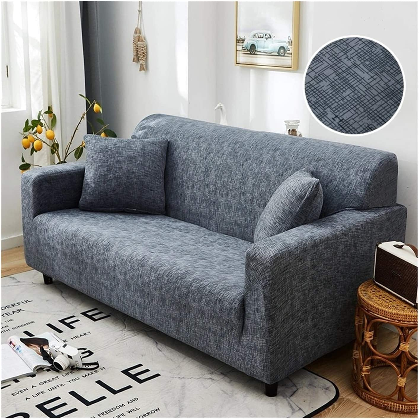 JPMSB Cross discount Pattern Elastic Sofa All-Inclusive Cover So free shipping Stretch