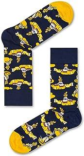 Happy Socks, Hombres De 6-Pack The Beatles LP Coleccionistas Calcetines Caja De Regalo, Yellow Submarine
