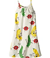 mini rodini - Veggie All Over Print Strap Dress (Infant/Toddler/Little Kids/Big Kids)