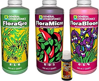 FloraGro, FloraBloom, FloraMicro Set + 1oz Floralicious Plus (Quarts)