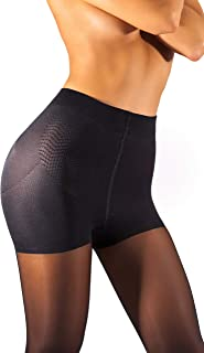 High Waisted Slimming Tights For Women - Shaping Semi Sheer Pantyhose   30 Den [Made in Italy]