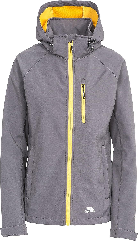 Trespass Lorina Women's Breathable Softshell Hooded Jacket  Carbon XXS