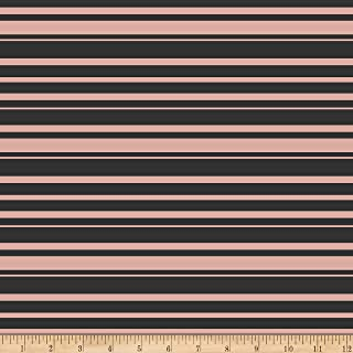 Riley Blake Designs Bliss Stripes Black With Rose Gold Sparkle Fabric Fabric by the Yard