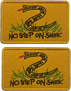Tactical No Step On Snek Military Morale Patches DIY Appliques Emblem Embroidered Badge Fastener Hook & Loop Patch Sew-on Patches Set for Caps, Hat, Bags, Backpacks, Vest, Uniforms