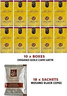 10x Organo Gold Café Latte + 18x Nugano Instant Black Coffee Sample Sachet Beverage