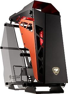 COUGAR Gaming Conquer Midi-Tower Negro, Naranja - Caja de Ordenador (Midi-Tower, PC, Aluminio, Vidrio Templado, Negro, Naranja, ATX,Micro ATX,Mini-ITX, Juego)