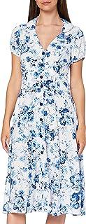 Joe Browns Women's Flattering Button Through Dress Casual, White/Blue, 8