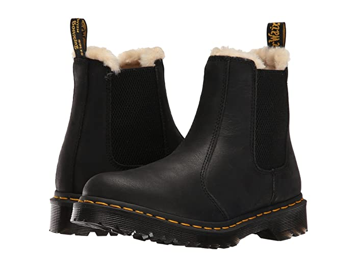 Dr. Martens  Leonore (Black Burnished Wyoming) Womens Pull-on Boots