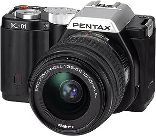 Pentax K 01 SLR Digital Kamera (16 Megapixel, 4 fach opt. Zoom, 7,6 cm (3 Zoll) Display, Full HD Video, bildstabilisiert) inkl. 18 55mm und 50 200mm schwarz