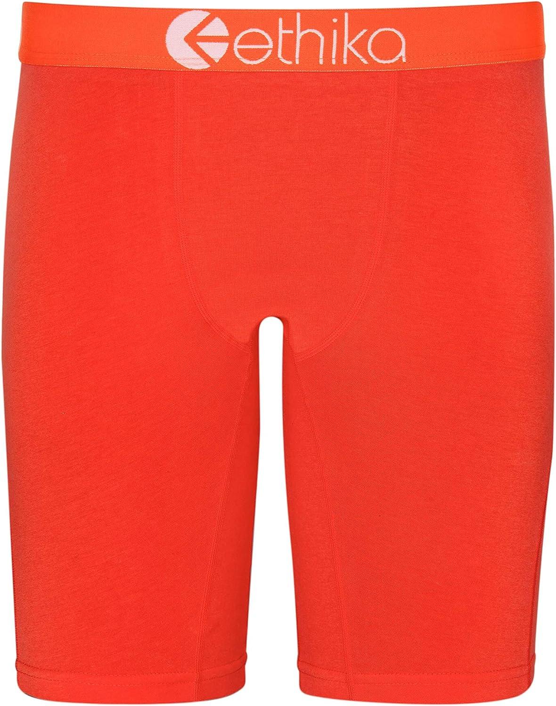 Ethika Mens Staple Boxer Briefs | Native Orange