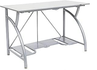 Origami Foldable Computer Desk, Silver