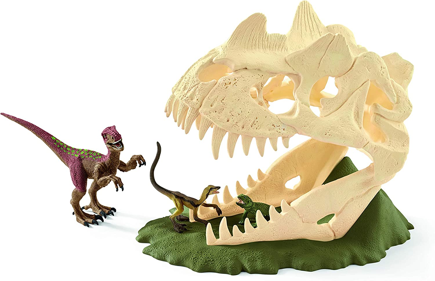 Schleich SC42348 Large Skull Trap with Velociraptor Playset