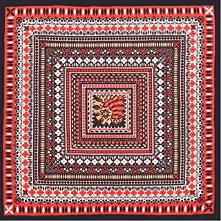 Happy-L New Beautiful Women's Twill Silk Scarf Retro Print Scarf Small Square Scarf 70cm (Color : 02)