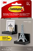 """Command Black 4"""" Floating Wall Ledges, 2 pack, Holds 2 lbs (HOM23S-2ES)"""