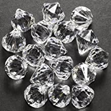 60 Small Clear Crystal Like Drop Ornaments Diamond shape