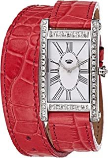 Juicy Couture Women's White Dial Leather Band Watch - F1901043