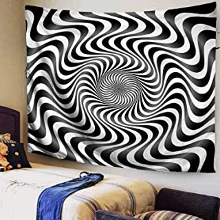 Capsceoll Large 80x60 Inches Size of Tapestry by Twist Twirl Spiral Optical Illusion Background Hypnosis Subconscious hypnotherapy #2 Tapestries Wall Art for Décor Dorm Bedroom Living Home