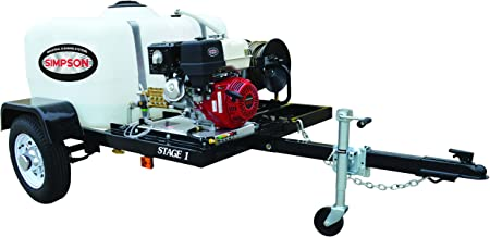 SIMPSON Cleaning 95001 Trailer Cold Water Mobile Washing System Powered by Honda, 3800 PSI at 3.5 GPM