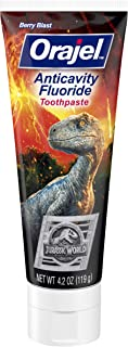 Orajel Jurassic World Berry Blast anti-cavity fluoride Toothpaste, 4.2 Oz