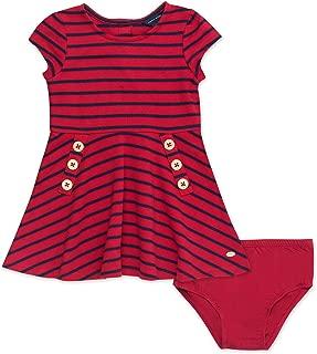 Baby Girls Short Sleeve Striped Dress