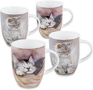 Konitz Cats Mugs, Set of 6, Multi