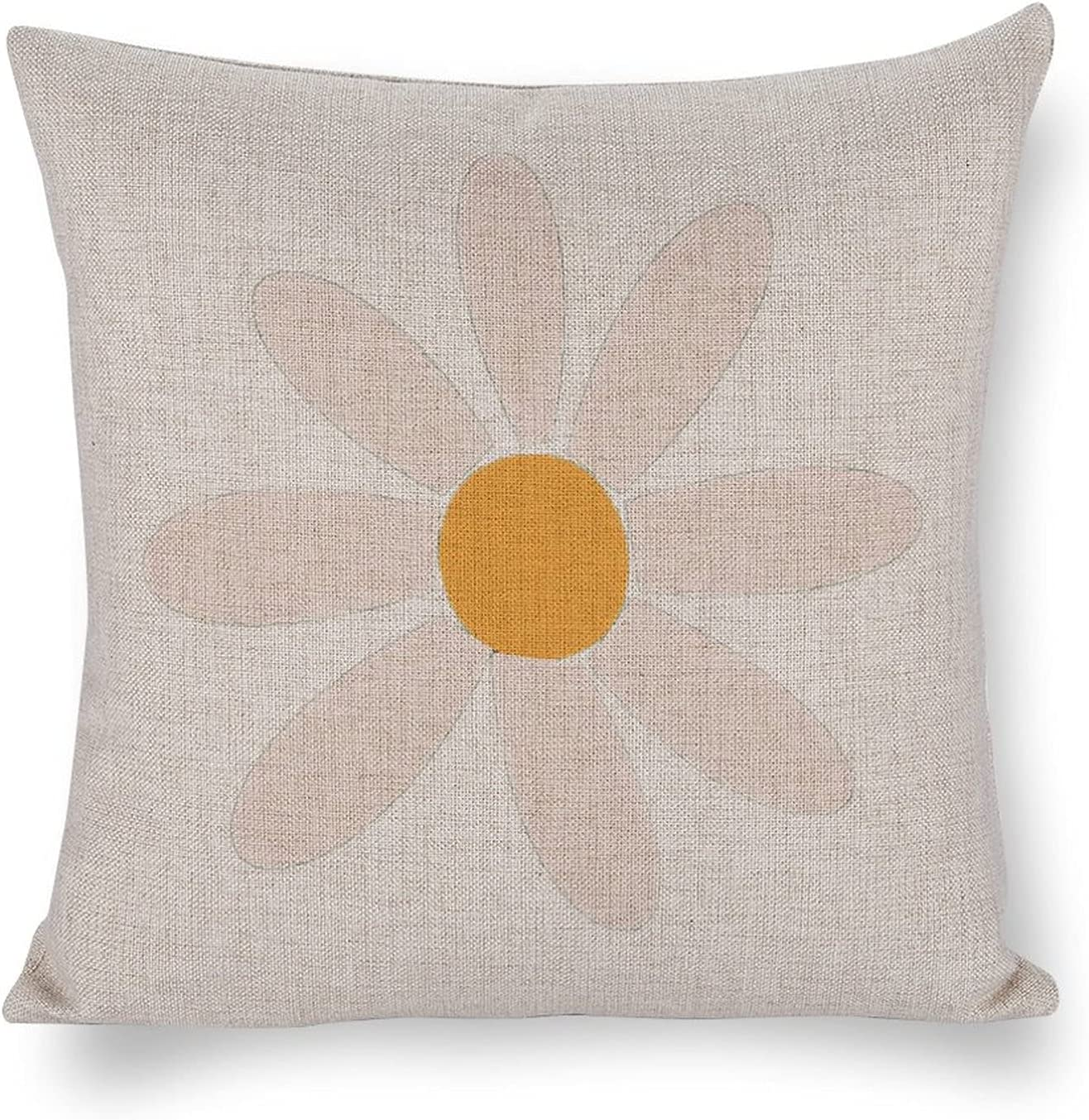 Some reservation UTF4C Petal Gesture Thumb Max 81% OFF Circle Flower Cushio Sofa Cotton Linen