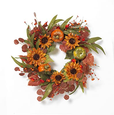 National Tree Wintery Pine Wreath 24 In W Plug In Green Home Kitchen