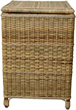Chennai Chairs Eco-Friendly Cane Laundry Basket with Lid (33 x 55) – Natural Finish