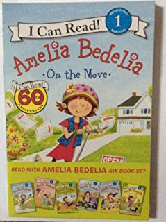 Amelia Bedelia six book set beginning level 1. I can read - Amelia Bedelia On the move, By the yard, Is for the birds, Joins the club, Takes the cake, Tries her luck