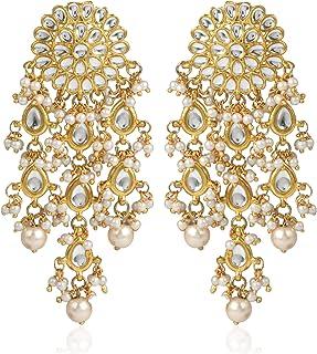 862f75480 Karatcart GoldPlated Fashion Chandbali Hook Dangler Stylish Fancy Party  Wear Earrings For Women