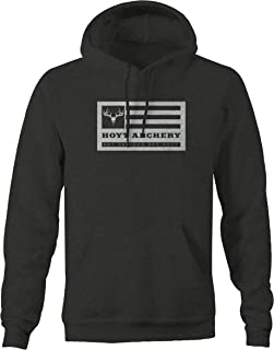 One Stop Outfitters Hoyt Archery Deer Flag Get Serious Bow Hunting Sweatshirt