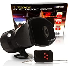 Genssi Wireless 7 Tone Electronic Siren Emergency Horn Sound System for Police Cars Fire Trucks with Remote Control