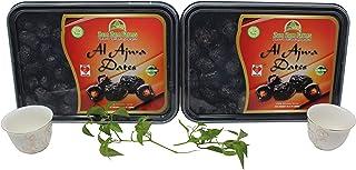 2 Pack of Al AJWA Dates, No 1 Quality Dates Imported from Saudi Arabia 2X800g