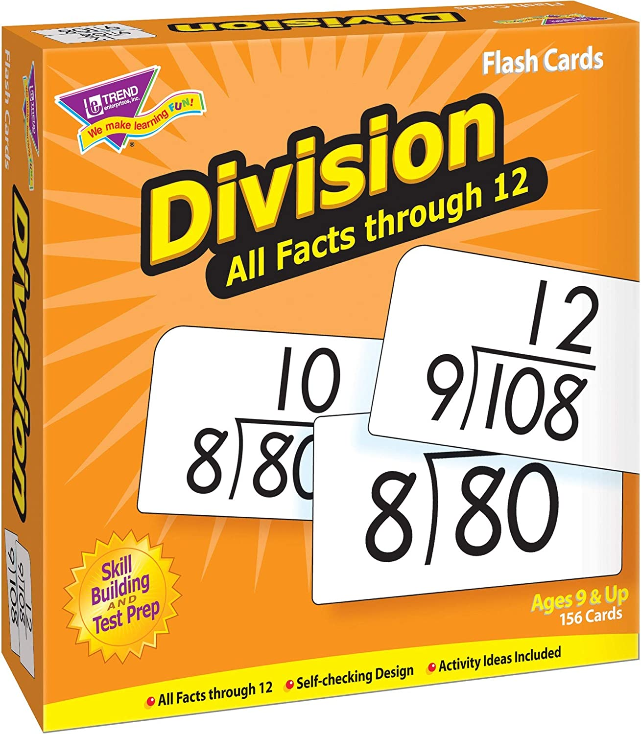 Trend Enterprises Division 0-12 All National uniform free shipping Flash Facts Card 25% OFF Skill Drill