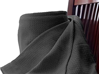 Whisper Organics Organic Cotton Blanket G.O.T.S. Certified (King, Dark Grey)