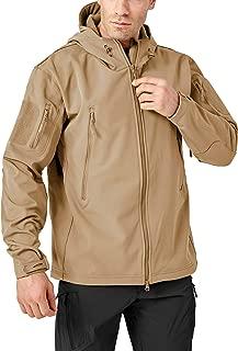 BIYLACLESEN Men's Winter Coats Hooded Jacket Fleece Softshell Tactical Jacket