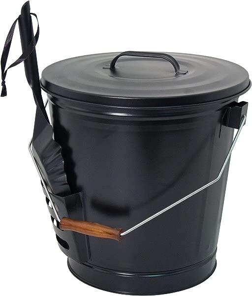 Panacea 15343 Ash Bucket With Shovel Black