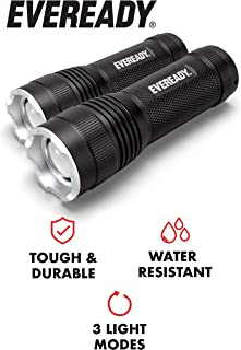 EVEREADY LED Flashlights, Bright Lumens, Durable and Easy-To-Use, Perfect Flashlights For Camping, Hiking, Emergency, Safe Flashlights For Kids, Multi-Purpose or Tactical Flashlights (Renewed)