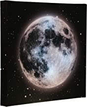 Clever Creations Light Up Canvas Wall Art Moon in Starry Night Sky Wall Art with LEDs   12