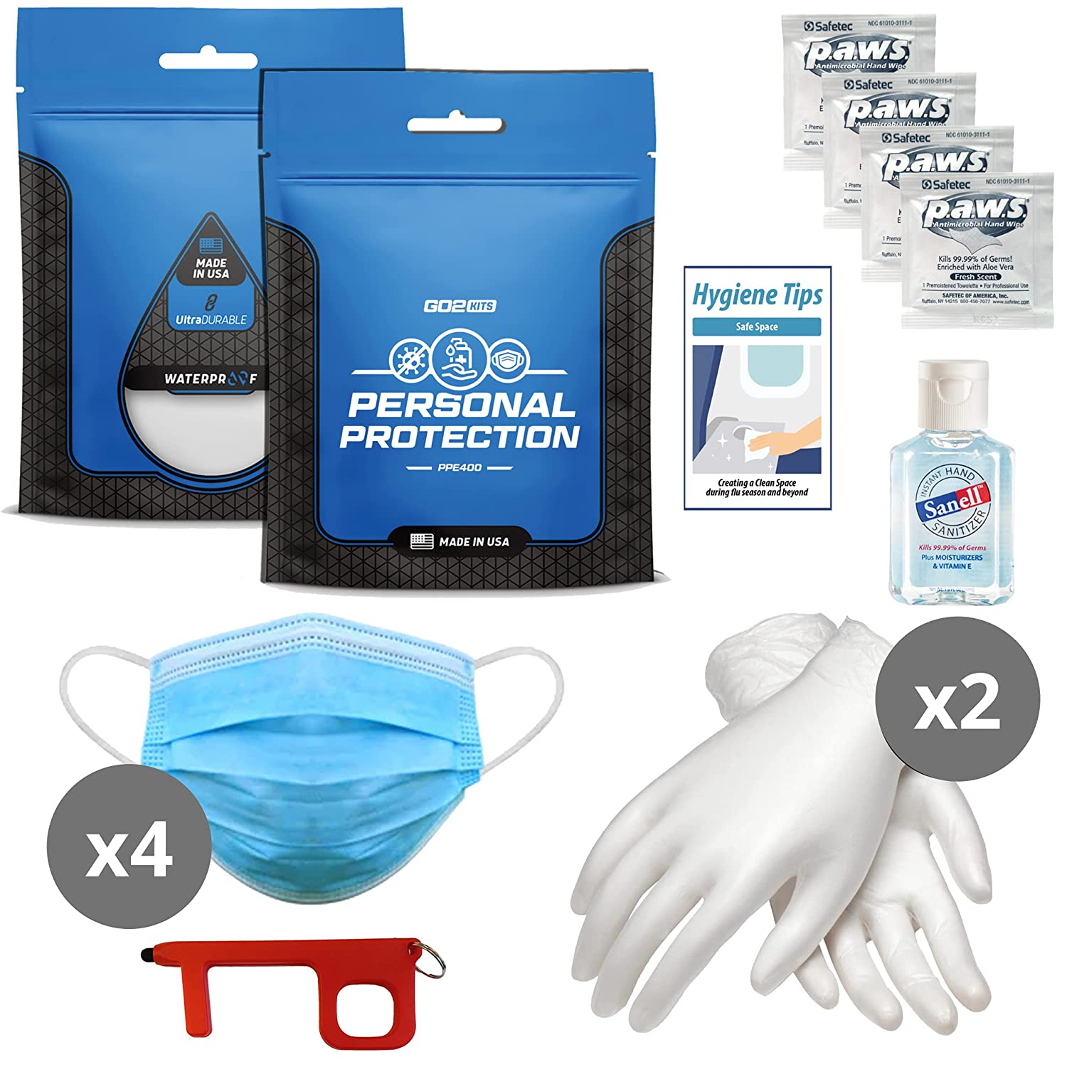 Go2Kits Recommended Safe Trip Travel PPE Kit Credence Air All-I Round-Trip for