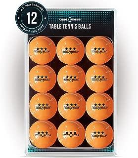 PRO SPIN Ping Pong Balls - 3-Star Orange Table Tennis Balls - Premium 40+ for Indoor & Outdoor Games