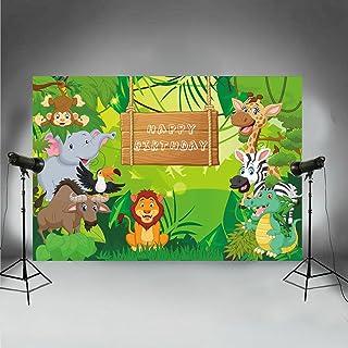 fivan Cartoon Foto Hintergründe für Geburtstag Dessert Tisch Dekoration Baby Jungle Cosplay Bilder