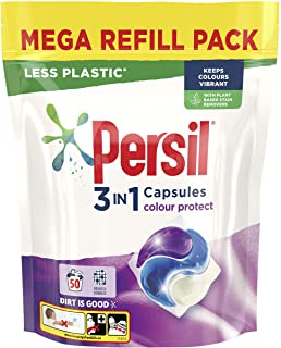 Persil 3 in 1 Colour Protect keeps colours vibrant Laundry Washing Capsules mega refill pack 50 Wash 1.350 kg